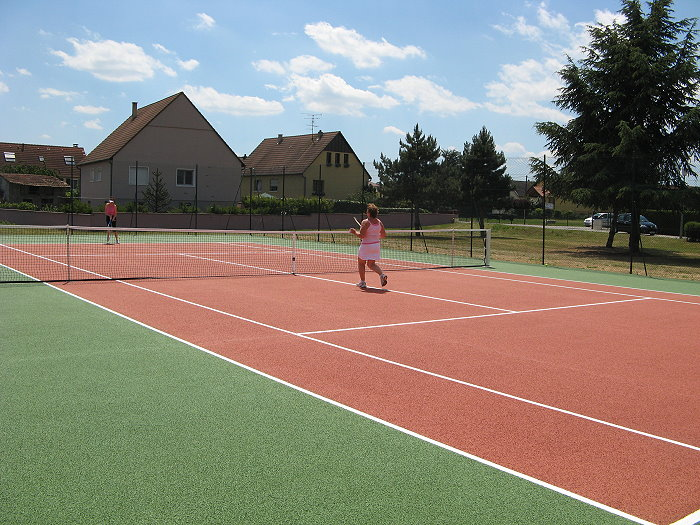 Rénovation des terrains de tennis – 25 Juin 2009