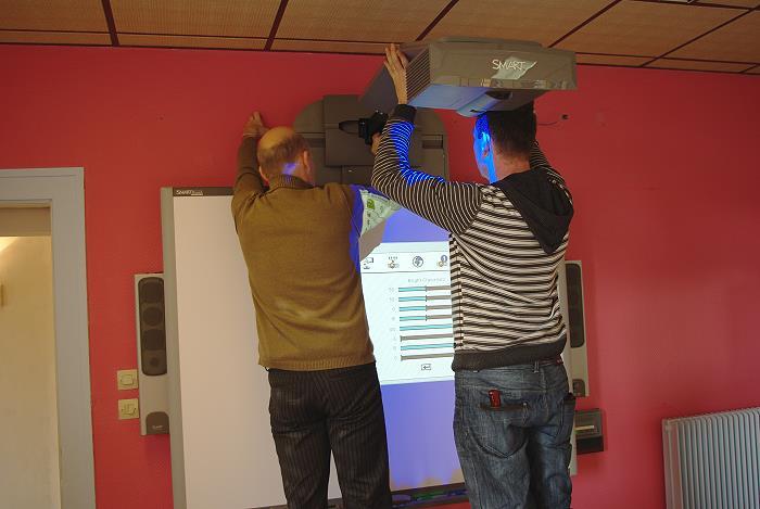 Installation de l'équipement de l'école numérique – 27 Janvier 2010
