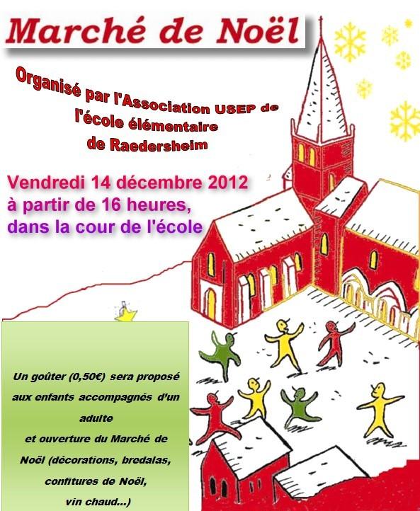 Marché de Noël à l'école – 14 Décembre 2012
