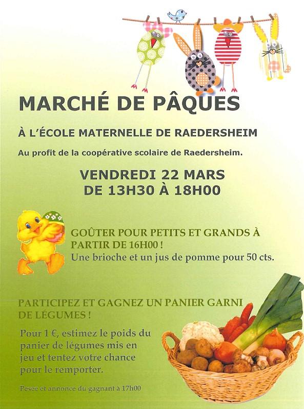 Marché de Pâques à l'école maternelle. Gagnez un panier garni ! – 22 Mars 2013