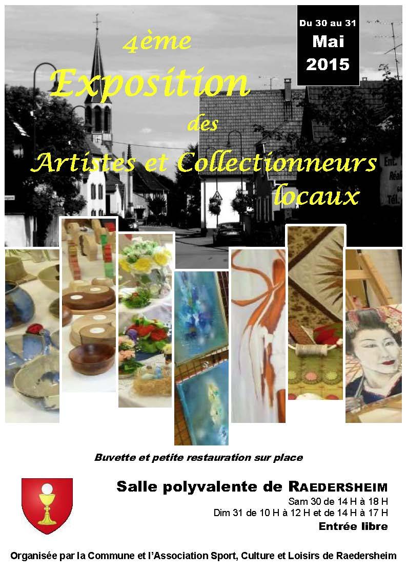 4ème  Expo des Artistes de Raedersheim – 30 et 31 mai 2015