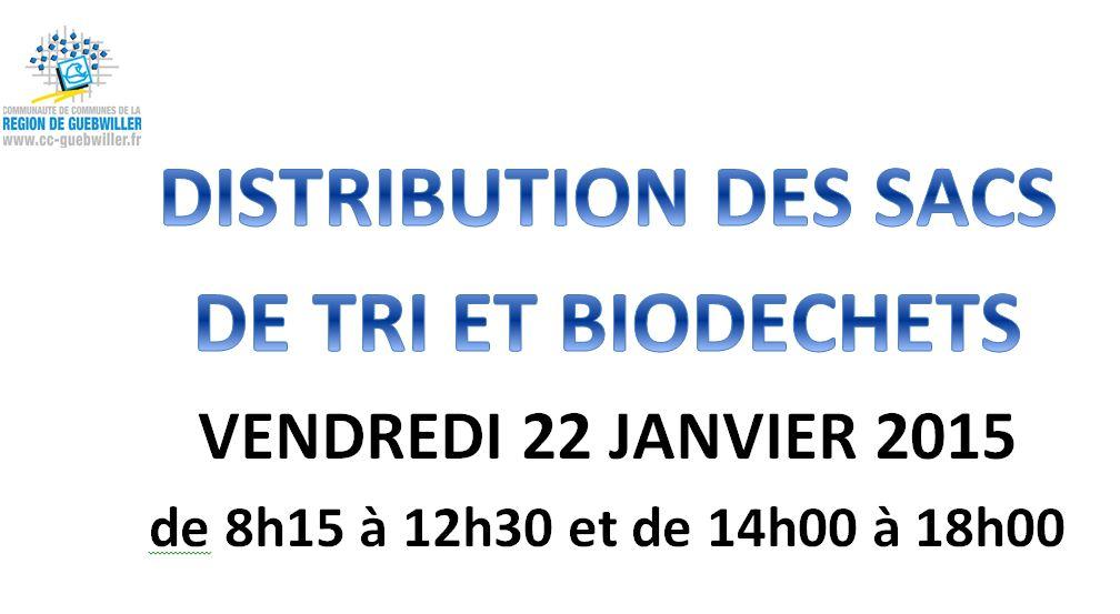 Distribution sacs de tri et biodéchets